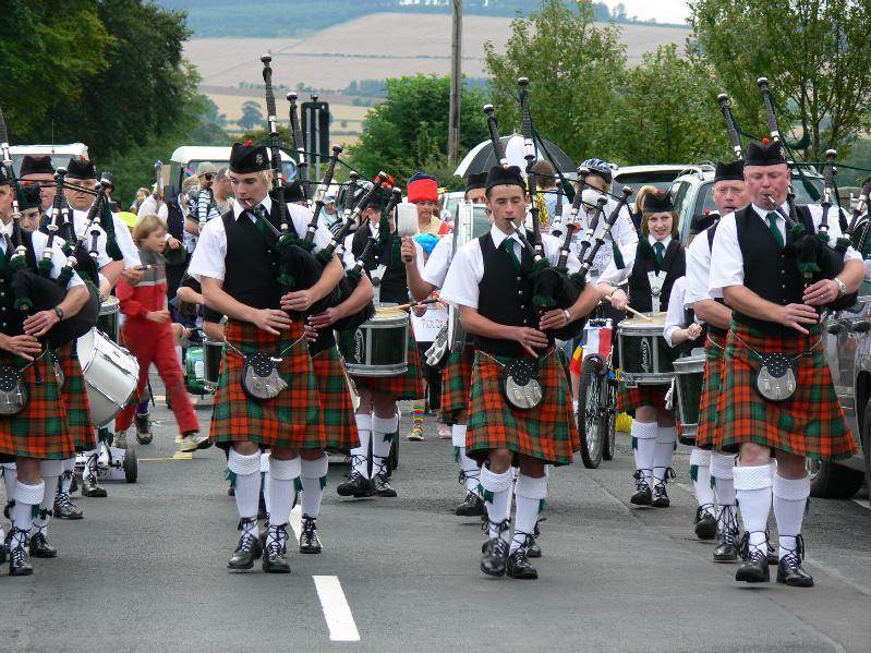 Festival week Pipe band